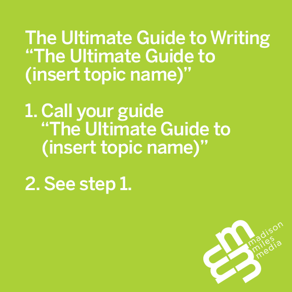 Pithy Picture Post Pfriday: The Ultimate Guide To...