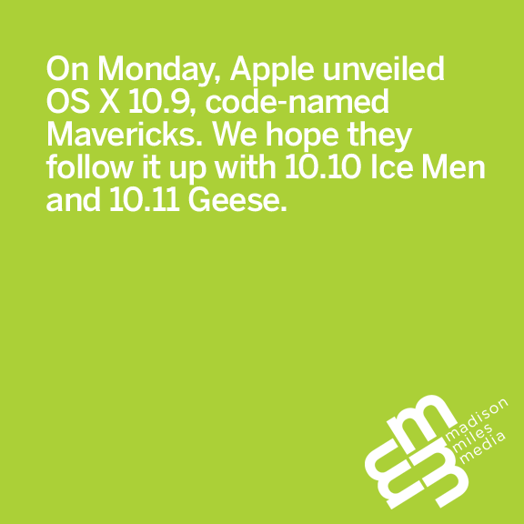Pithy Picture Post Pfriday: Apple's Next OS