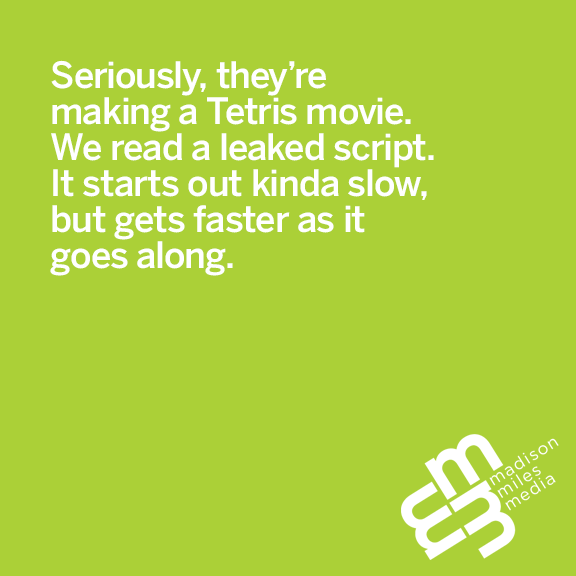 Pithy Picture Post Pfriday: Tetris and Movies Make Great Fit