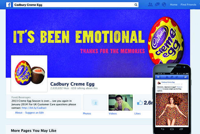 Cadbury Creme Egg's successful Facebook campaign