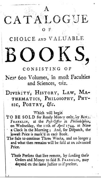 Franklin Catalogue of Books