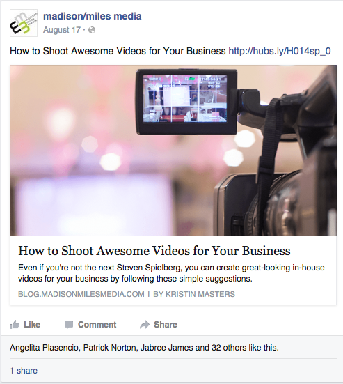 Clearly, using eye-catching images helps engagement.