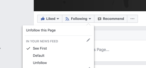 See Updates First in News Feed
