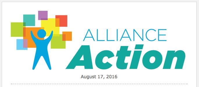 Header of Health and Alliance Wellness for Children email newsletter