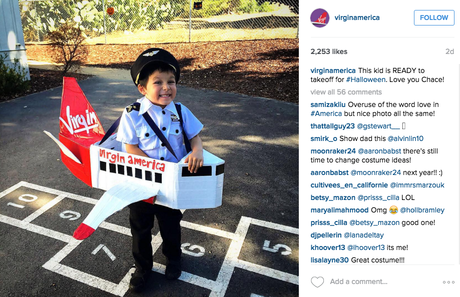 Instagram for Inbound Marketing, virgin america example