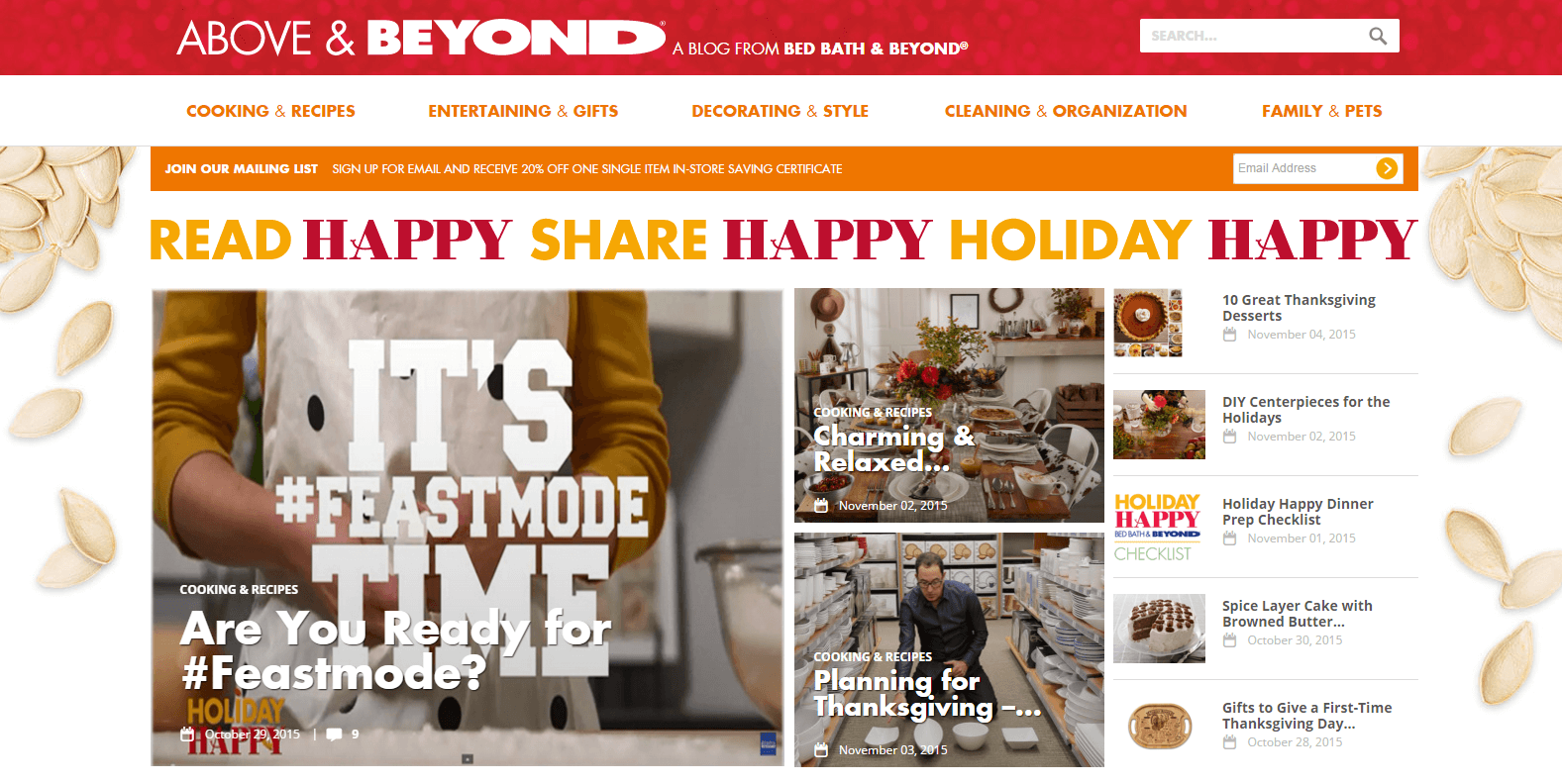 Above & Beyond is a blog with standout examples of shareable content.
