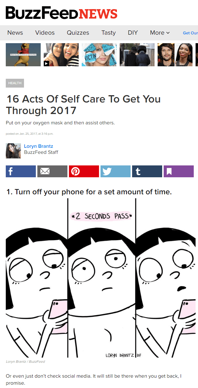 BuzzFeed is known for their list posts, which are very popular.