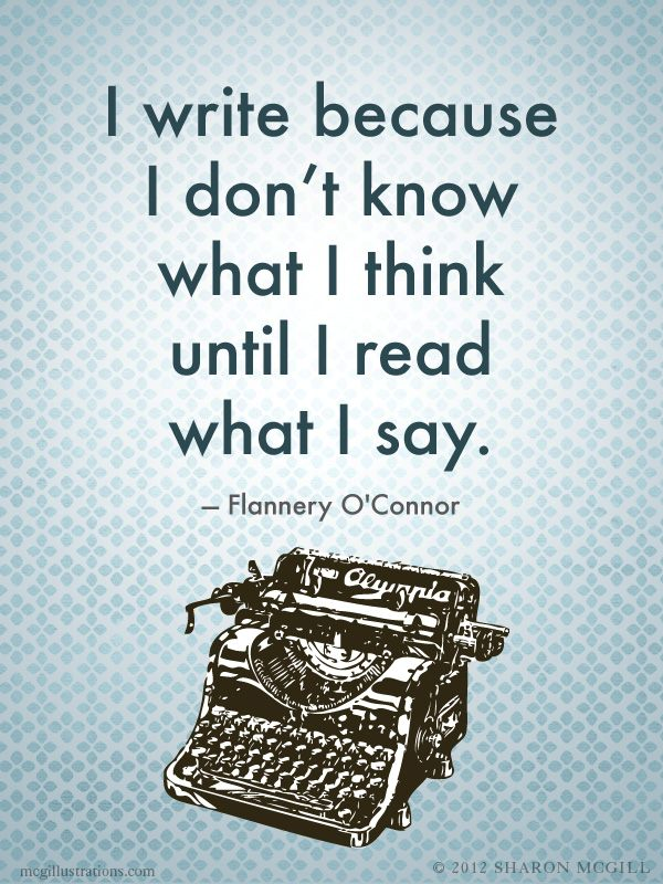 Flannery O'Connor quote (source mcgillustrations.com)