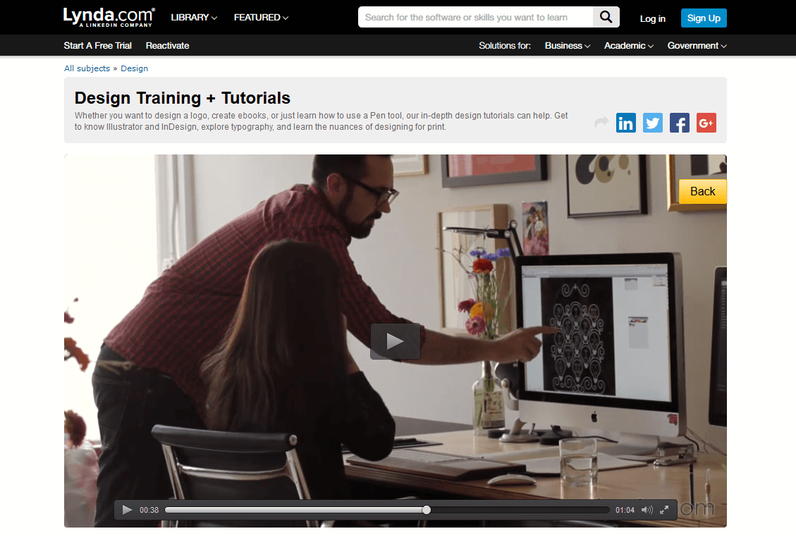Lynda.com provides training all through video.