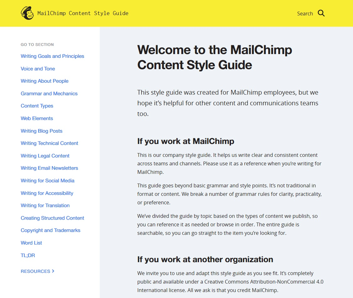 MailChimp's Company Style Guide