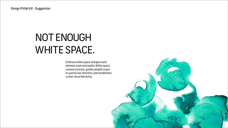 White Space in Design for Hierarchy