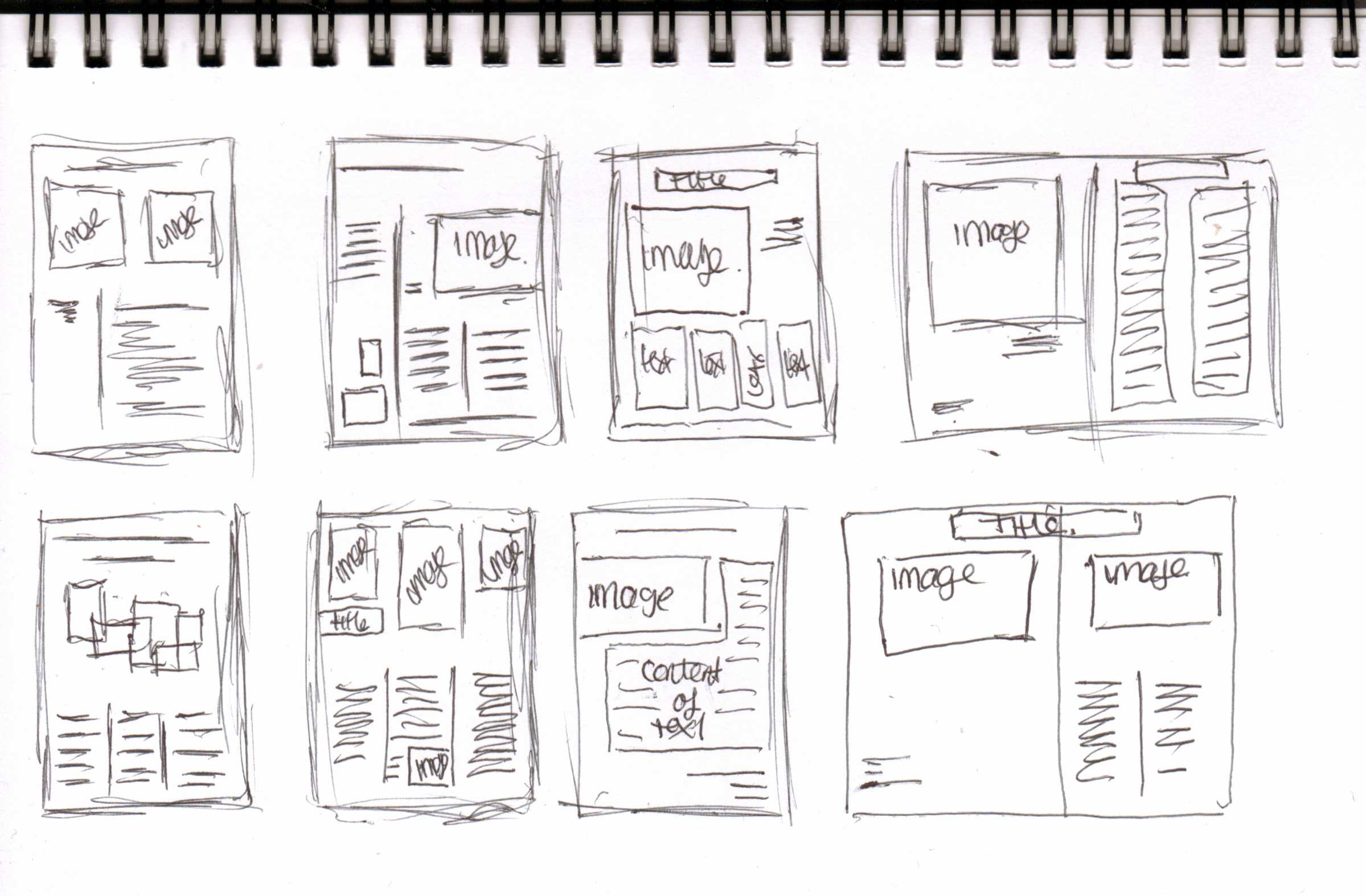 Sketching the Visual Hierarchy for Content