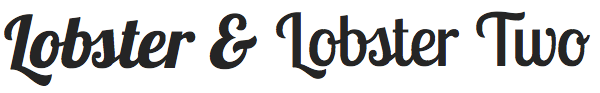 Lobster font