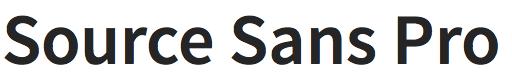 Source Sans Pro font