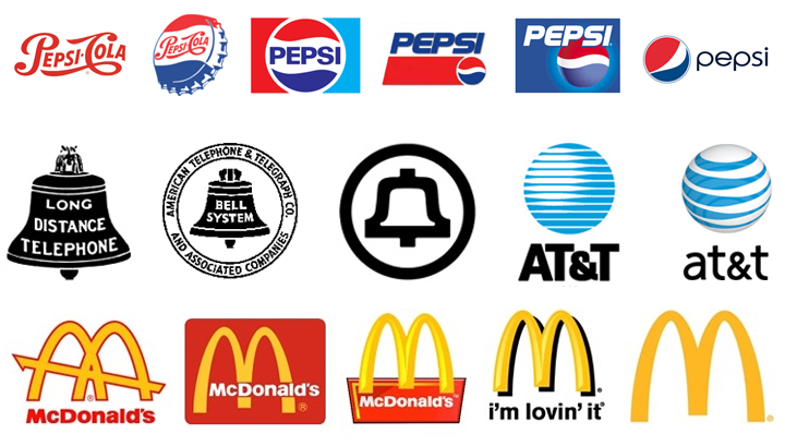 Brand logos evolve and modernize over the years.