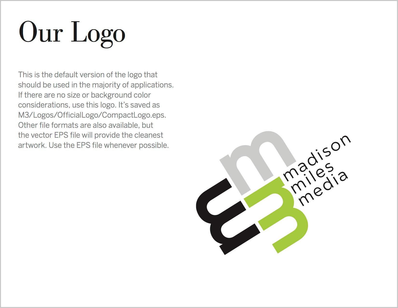 Defining the brand logo.