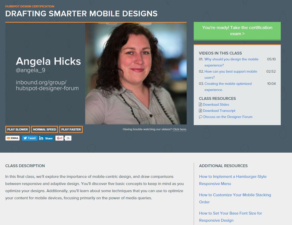 HubSpot Training Screenshot