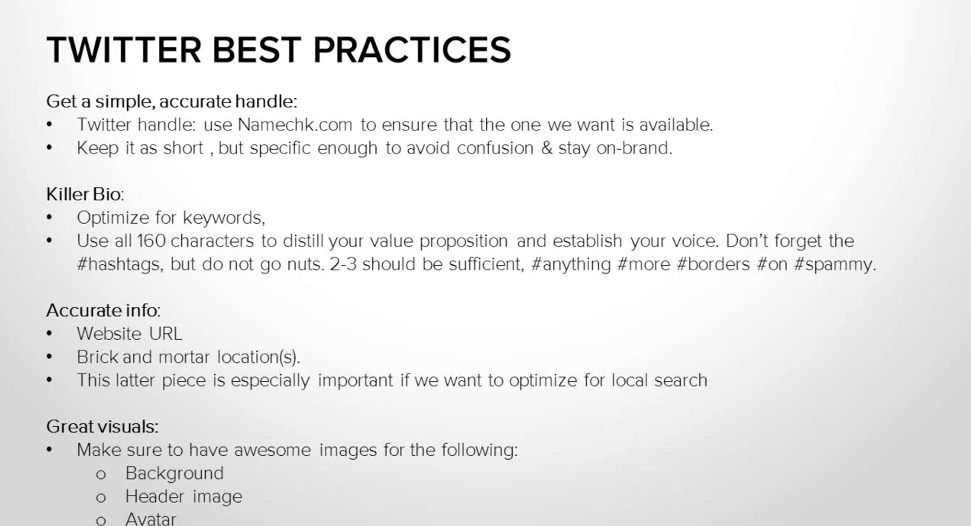 Twitter Best Practices from HubSpot
