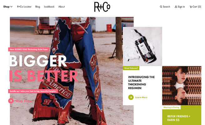 r and co website homepage